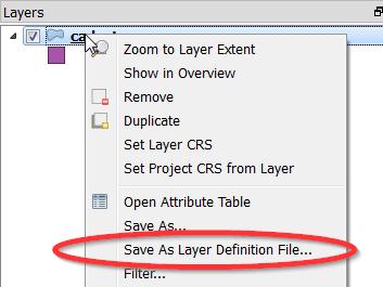QGIS Layer Definitions (An ArcGIS like  lyr function for QGIS