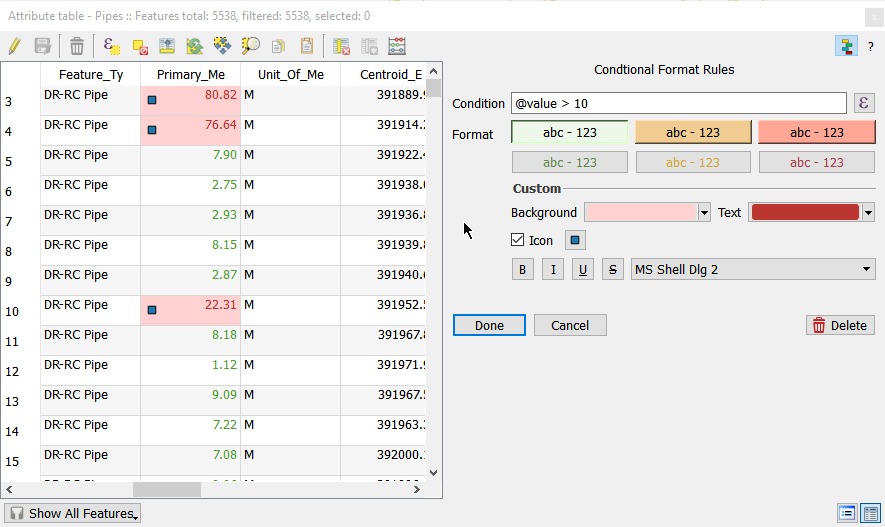 Mixing a bit of Excel into QGIS – conditional formatted